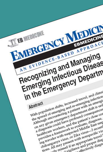 Recognizing and Managing Emerging Infectious Diseases in the Emergency Department
