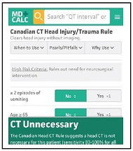 Canadian CT Head Injury/Trauma Rule