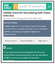 LRINEC Score for Necrotizing Soft-Tissue Infection