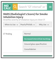 RADS (Radiologist's Score) for Smoke Inhalation Injury