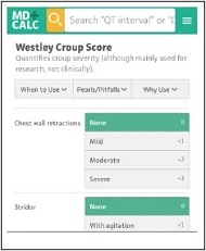 Westley Croup Score