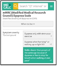 mMRC (Modified Medical Research Council) Dyspnea Scale