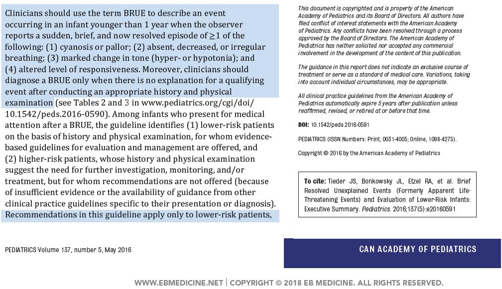 LLSA - 2019 - Prep - Article - Review - BRUE