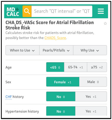 CHA2DS2-VASc Score for