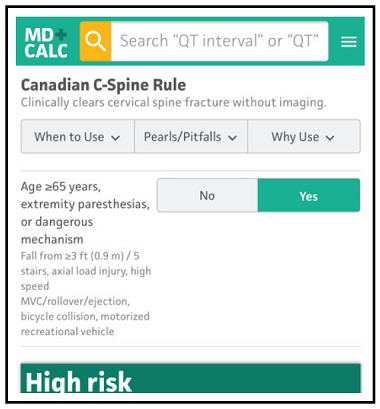 Canadian C-Spine Rule