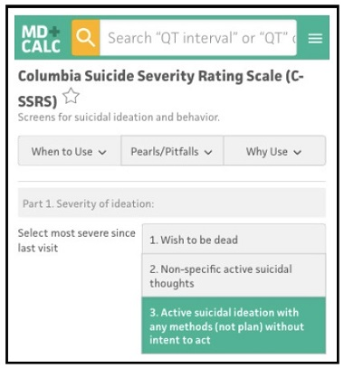 Columbia-Suicide Severity Rating