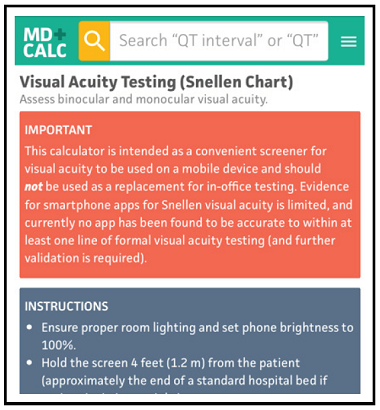 Visual Acuity Testing (Snellen Chart)