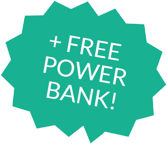 Free Power Bank with Purchase