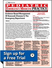 Pediatric Emergency Medicine Practice, Evidence-based CME, Free Trial Signup