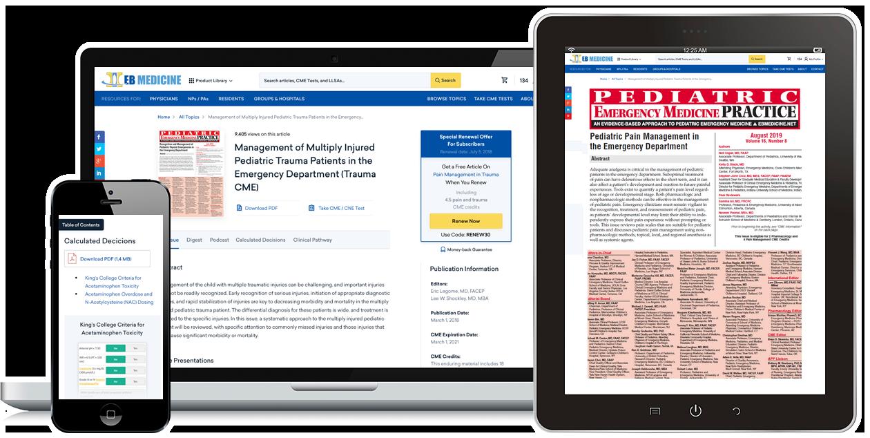 Emergency Medicine CME | Evidence-Based Excellence | EB Medicine