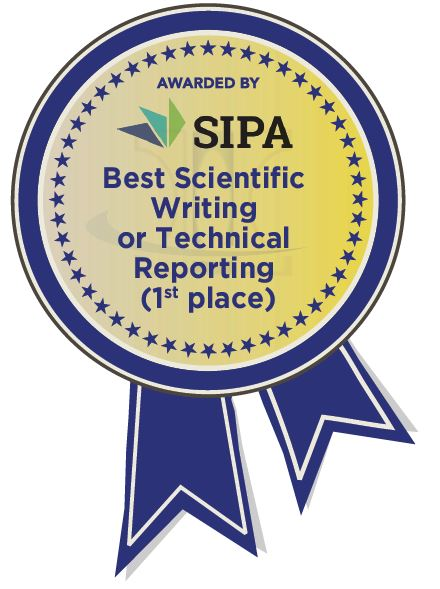 Awarded By Sipa, Best Scientific Writing or Technical Reporting