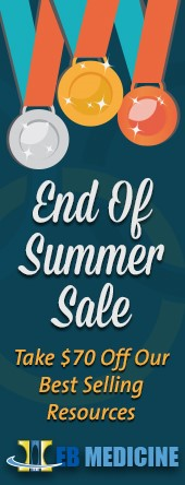 Evidence-Based CME Resources, Summer Sale right bar - EB Medicine