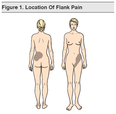 Figure 1. Location Of Flank Pain