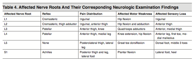 Table 4. Affected Nerve Roots And Their Corresponding Neurologic Examination Findings
