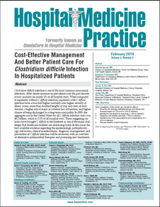 Cost-Effective Management And Better Patient Care For Clostridium difficile Infection In Hospitalized Patients