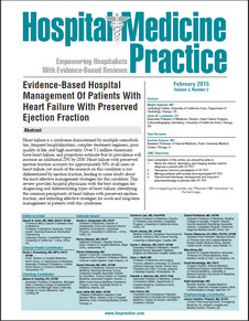 Evidence-Based Hospital Management Of Patients With Heart Failure With Preserved Ejection Fraction