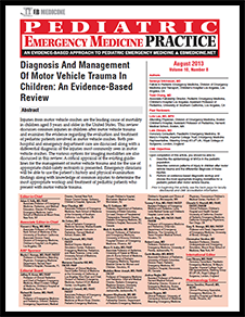Diagnosis And Management Of Motor Vehicle Trauma In Children: An Evidence-Based Review (Trauma CME)