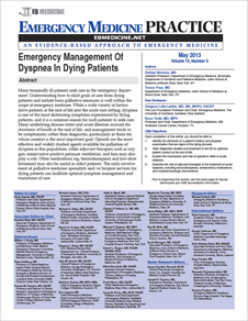 Emergency Management Of Dyspnea In Dying Patients (Ethics CME)