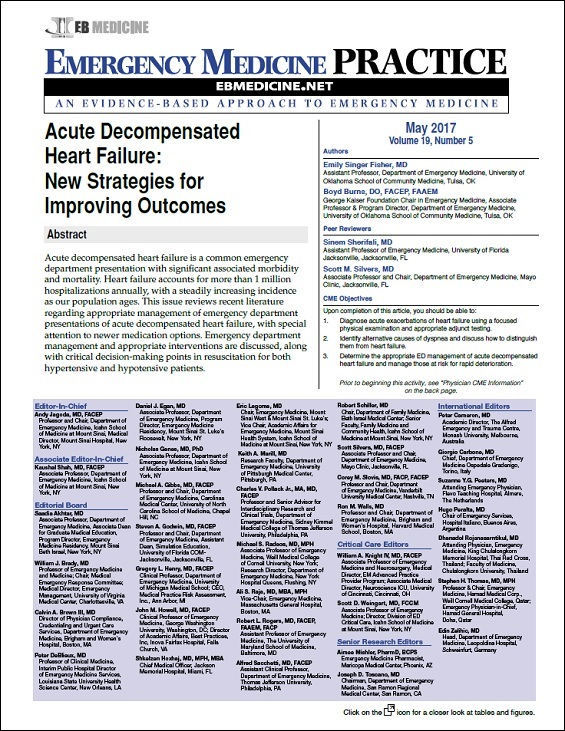 Acute Decompensated Heart Failure: New Strategies for Improving Outcomes