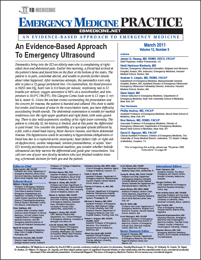 An Evidence-Based Approach To Emergency Ultrasound