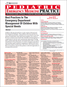 Best Practices In The Emergency Department Management Of Children With Special Needs