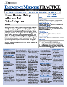 Clinical Decision Making In Seizures And Status Epilepticus