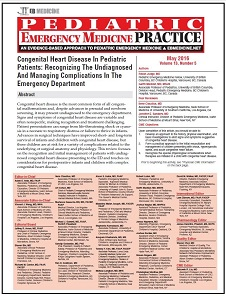 Congenital Heart Disease In Pediatric Patients: Recognizing The Undiagnosed And Managing Complications In The Emergency Department