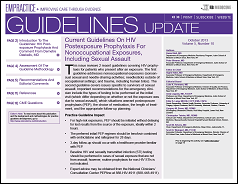 Current Guidelines On HIV Postexposure Prophylaxis For Nonoccupational Exposures, Including Sexual Assault