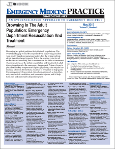 Drowning In The Adult Population: Emergency Department Resuscitation And Treatment (Trauma CME)