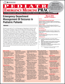 Emergency Department Management Of Seizures In Pediatric Patients