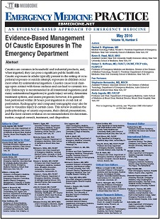 Evidence-Based Management Of Caustic Exposures In The Emergency Department