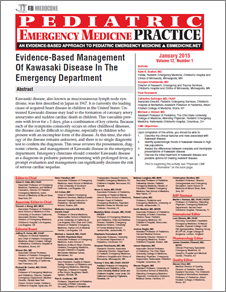 Evidence-Based Management Of Kawasaki Disease In The Emergency Department