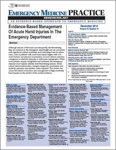 Evidence-Based Management Of Acute Hand Injuries In The Emergency Department (Trauma CME)