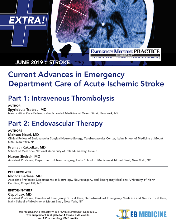 Current Advances in Emergency Department Care of Acute Ischemic Stroke (Stroke CME and Pharmacology CME)