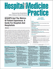 HCAHPS And The Metrics Of Patient Experience: A Guide For Hospitals And Hospitalists