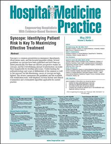 Syncope: Identifying Patient Risk Is Key To Maximizing Effective Treatment