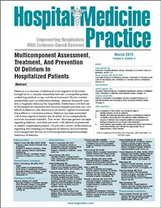 Multicomponent Assessment, Treatment, And Prevention Of Delirium In Hospitalized Patients