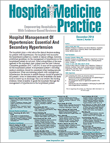 Hospital Management Of Hypertension: Essential And Secondary Hypertension