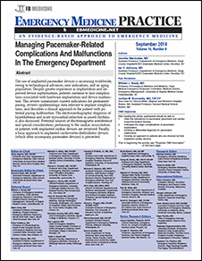 Managing Pacemaker-Related Complications And Malfunctions In The Emergency Department