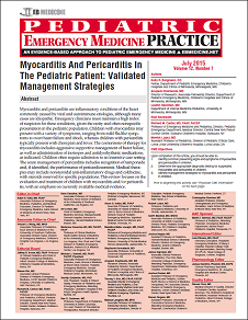 Myocarditis And Pericarditis In The Pediatric Patient: Validated Management Strategies
