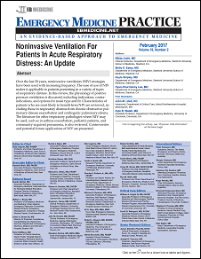 Noninvasive Ventilation For Patients In Acute Respiratory Distress: An Update