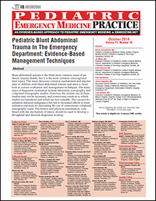 Pediatric Blunt Abdominal Trauma In The Emergency Department: Evidence-Based Management Techniques (Trauma CME)