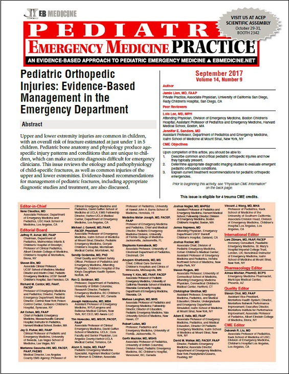 Pediatric Orthopedic Injuries: Evidence-Based Management in the Emergency Department (Trauma CME)