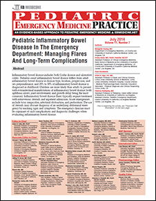 Pediatric Inflammatory Bowel Disease In The Emergency Department: Managing Flares And Long-Term Complications