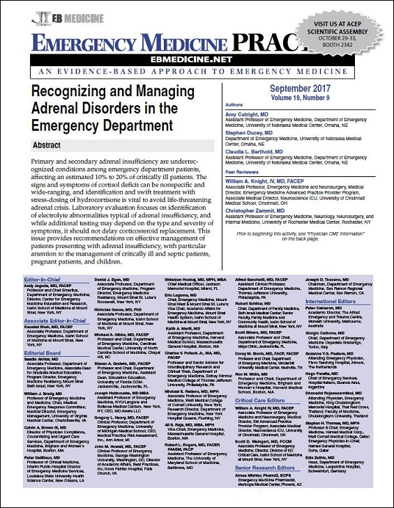 Recognizing and Managing Adrenal Disorders in the Emergency Department
