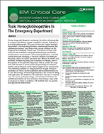 Toxic Hemoglobinopathies In The Emergency Department