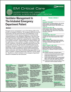 Ventilator Management In The Intubated Emergency Patient