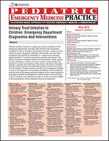 Urinary Tract Infection In Children: Emergency Department Diagnostics And Interventions