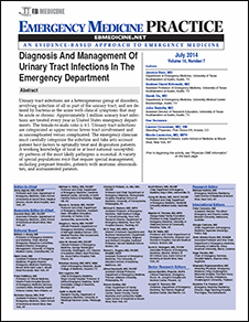 Diagnosis And Management Of Urinary Tract Infections In The Emergency Department