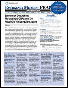 Emergency Department Management Of Patients On Novel Oral Anticoagulant Agents (Trauma CME)